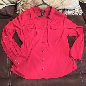 STYLE & CO.RED  RED  SHIRT
